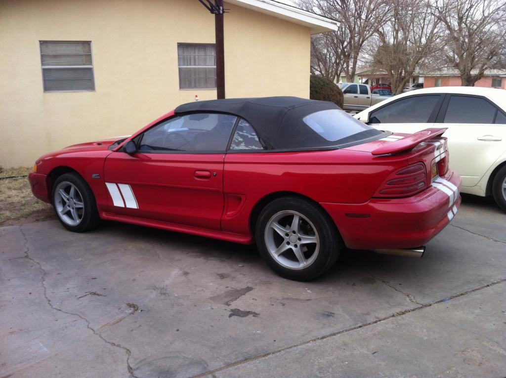 For SaleTrade 1995 mustang gt 50 5 speed convertible