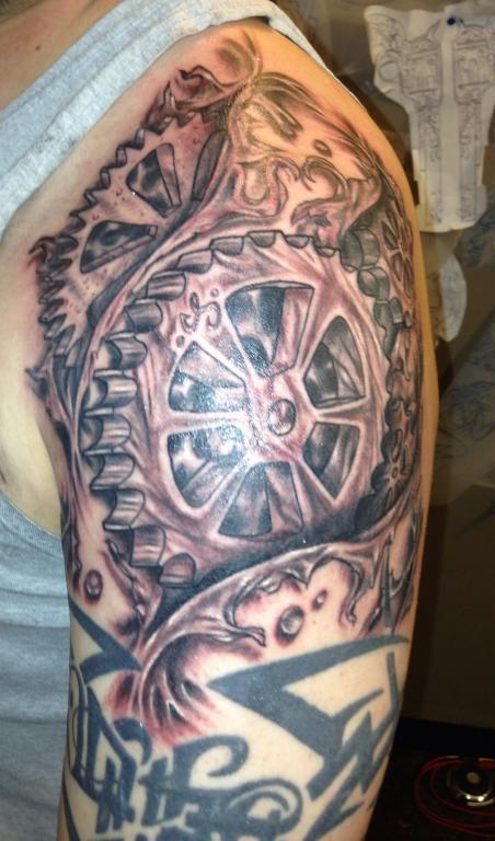 badass garage ideas - My New Gear Head tattoo TrueStreetCars