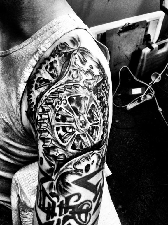 My New Gear Head Tattoo Truestreetcarscom