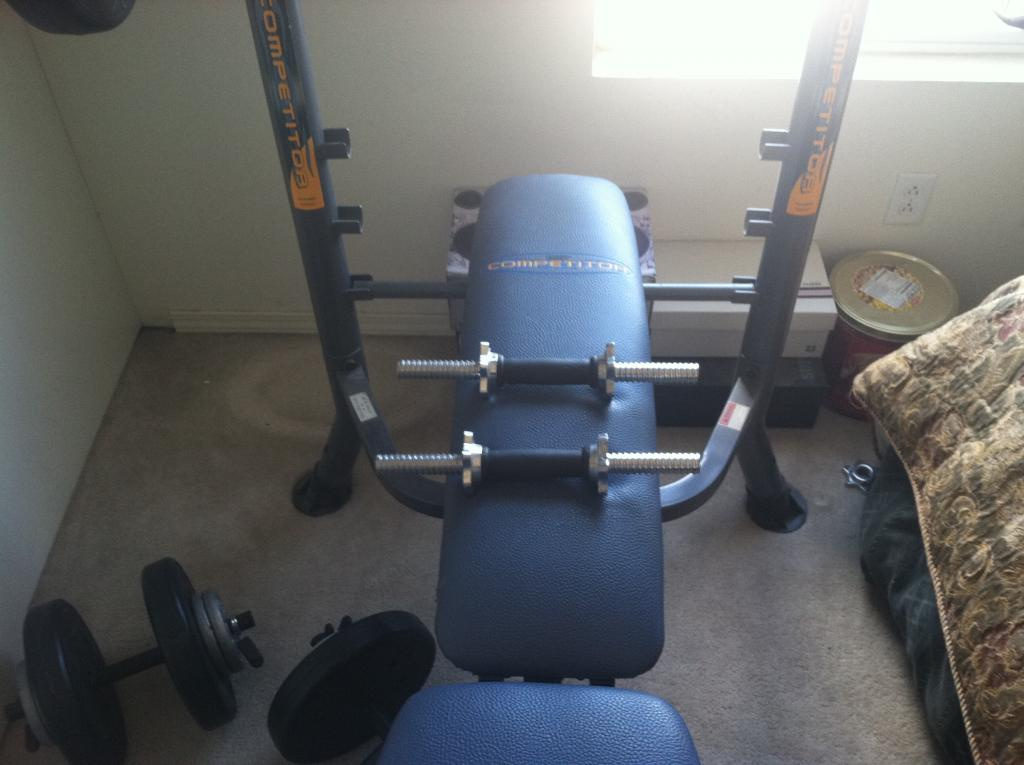 For Sale Weight Set Bench Press