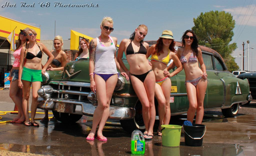 Bikini car washing