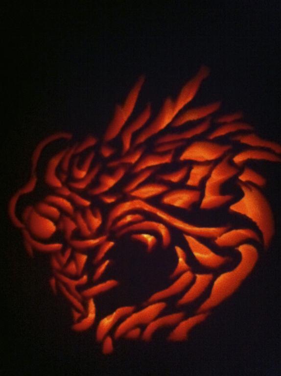 Dragon Pumpkin Carving Pumpkin Carving